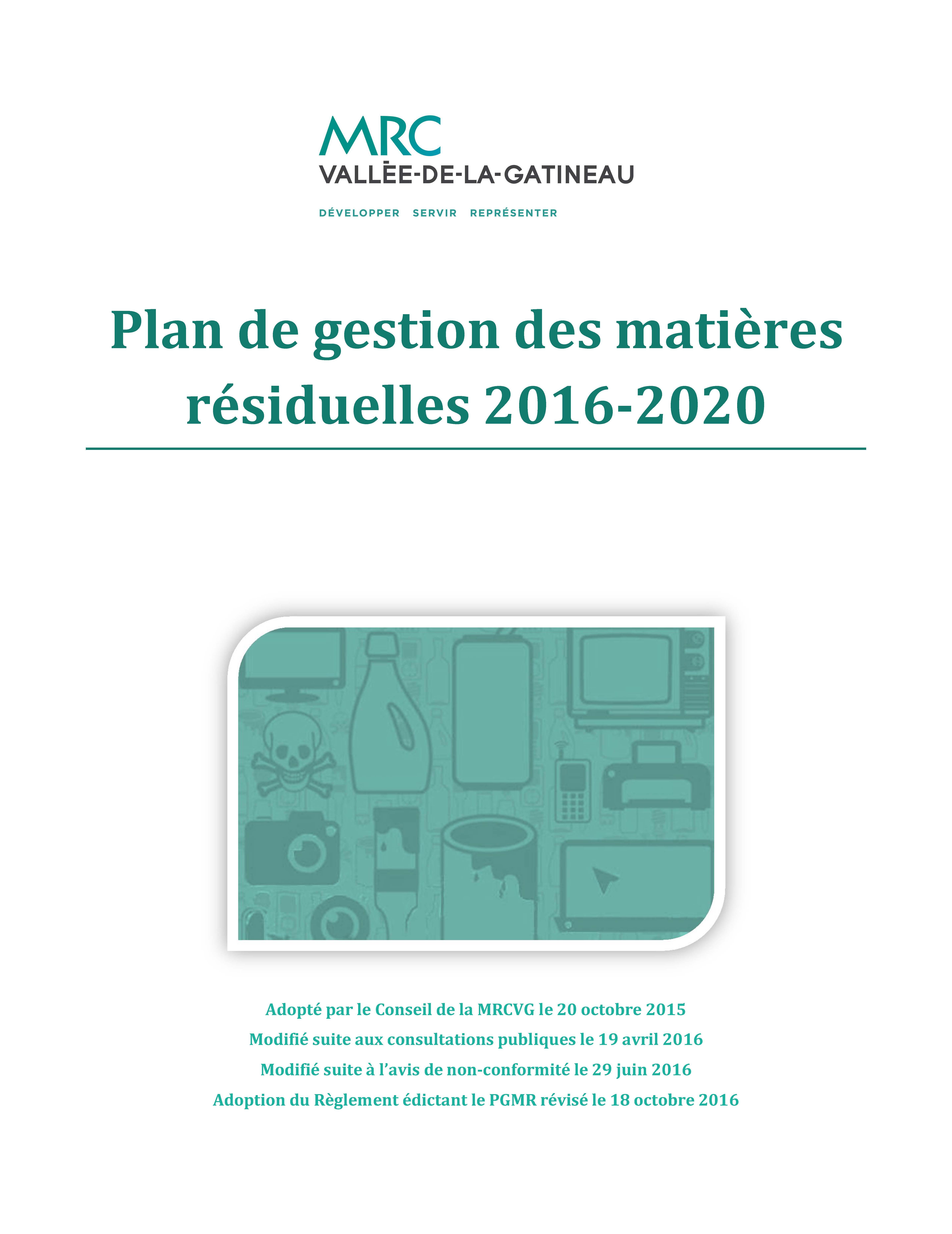 9942a02093b Plan de gestion des matières résiduelles 2016-2020